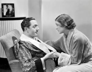 Уильям Пауэлл и Мирна Лой в фильме Тонкий человек 1934 года