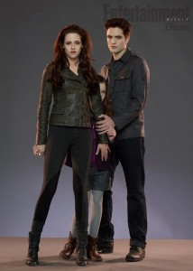 белла, эдвард и их дочь