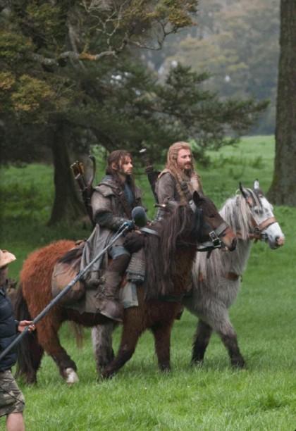 Фили и Кили на лошадях