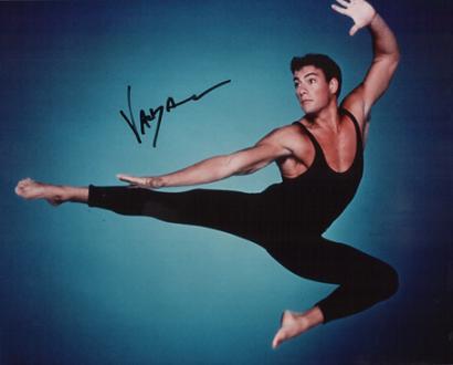 Жан клод - занимался в юношестве балетом