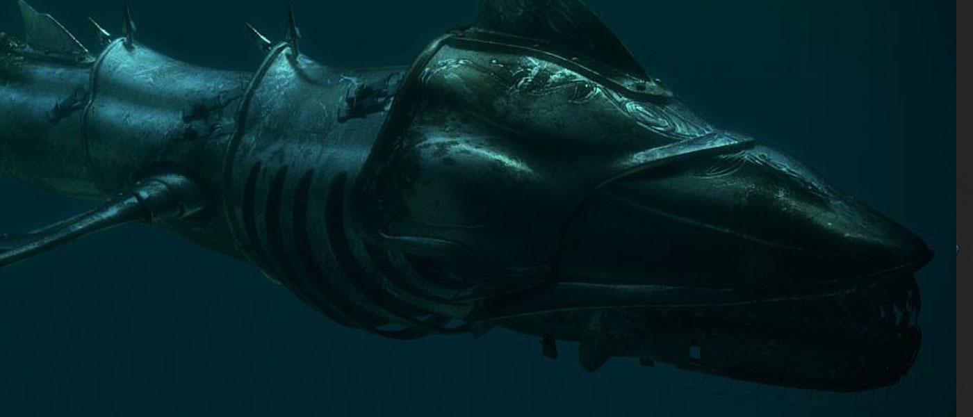 металлическая рыба