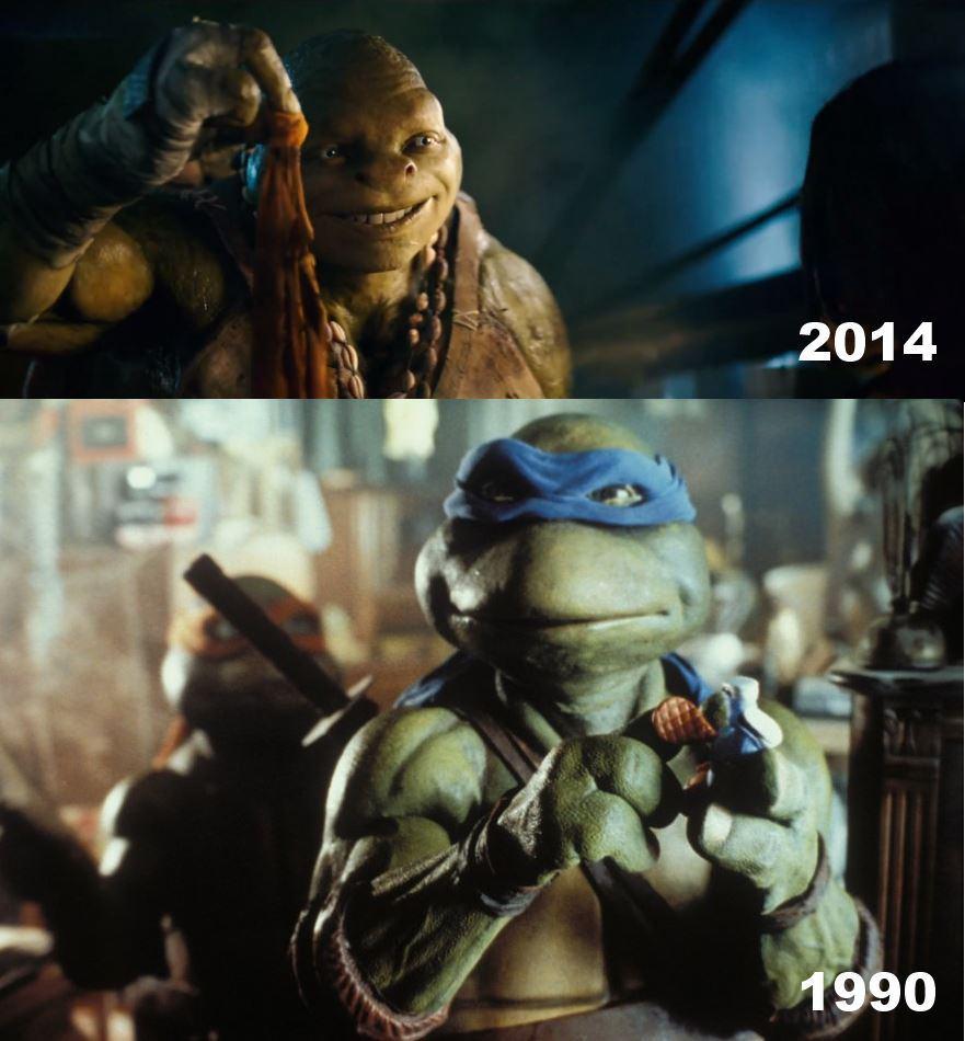 Старая и новая версия черепашек-ниндзя