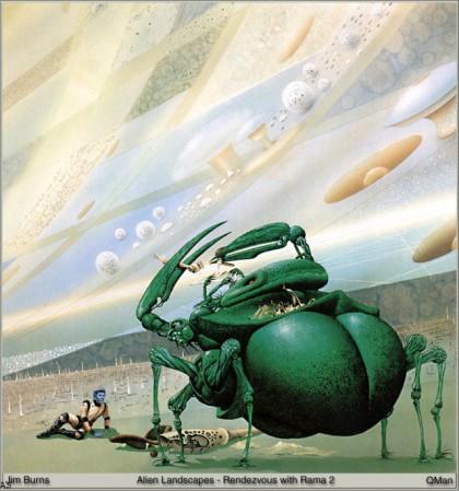 Биоты - иллюстрация из книги Свидание с Рамой