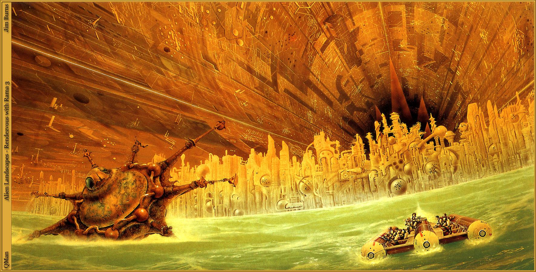 Иллюстрация из книги Свидание с Рамой