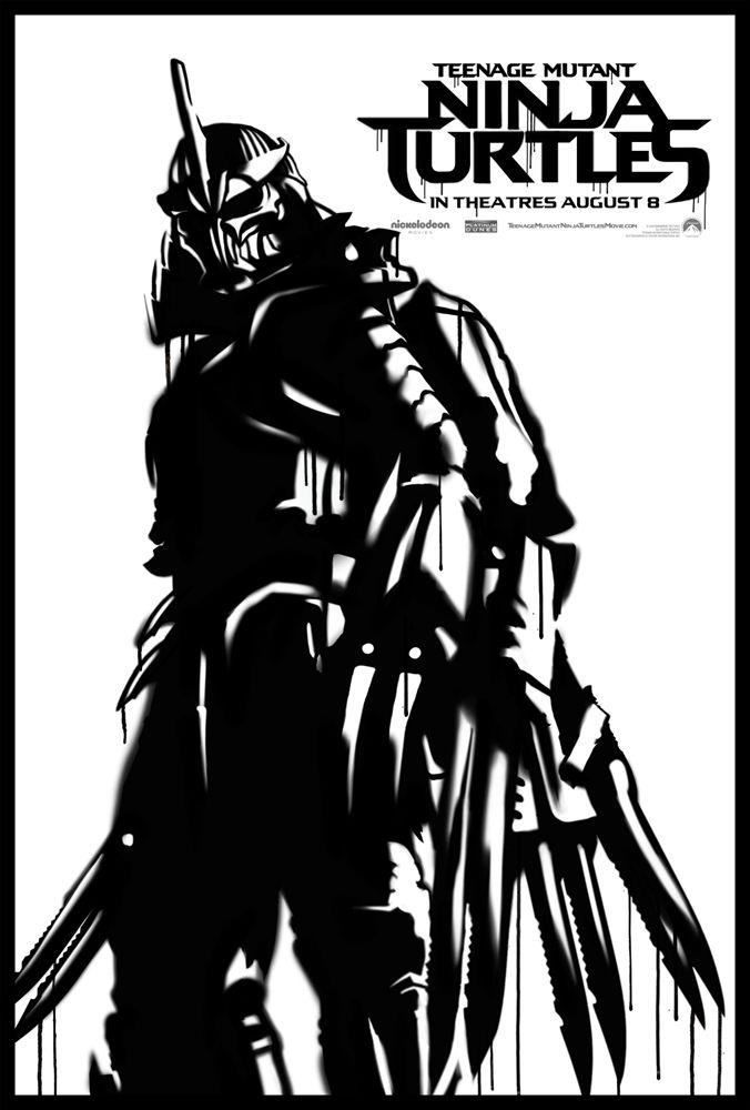 граффити постер Шреддер