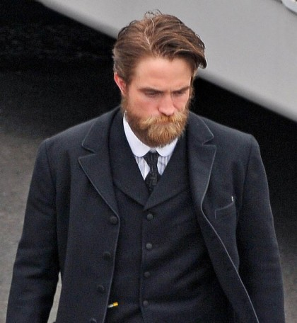 Alan Lewis - PhotopressBelfast.co.uk 3/9/2015 Actor Charlie Hunnam getting ready to go on set at Methodist College in Belfast today as filming for The Lost City Of Z continues to be shot in Northern Ireland. An extra from the filming today let it slip that Charlie got stung by a wasp/bee while filming a scene today and forgot his lines. 'The Lost City Of Z' cast includes Hollywood stars Charlie Hunnam, Tom Holland, Sienna Millar, Robert Pattinson and Sienna Buck. The film is produced by Hollywood movie star Brad Pitt and producers Marc Butan and Glenn Murray. After filming finishes in Northern Ireland the production is set to switch to Colombia. Pictured: Robert Pattison Ref: SPL894423 030915 Picture by: Photopress Belfast / Splash News Splash News and Pictures Los Angeles: 310-821-2666 New York: 212-619-2666 London: 870-934-2666 photodesk@splashnews.com