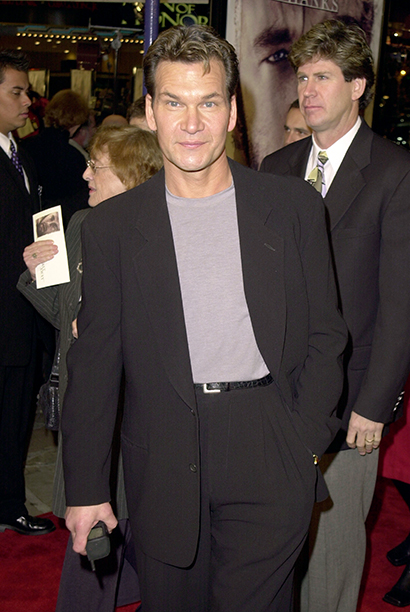 """Patrick Swayze during """"Cast Away"""" Los Angeles Premiere at Mann Village Theatre in Westwood, California, United States. (Photo by SGranitz/WireImage)"""