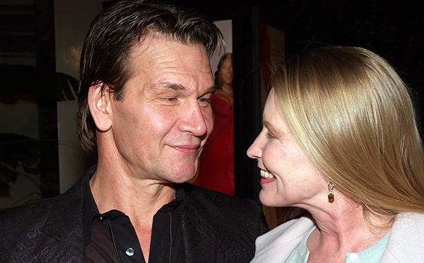 """Patrick Swayze with his wife Lisa Niemi during """"Last Holiday"""" Los Angeles Premiere - Arrivals at Cinerama Dome in Hollywood, California, United States. (Photo by Michael Tran/FilmMagic)"""
