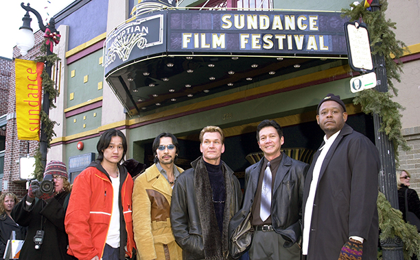 Tony Bui, Timothy Linh Bui, Patrick Swayze and Forest Whitaker (Photo by Randall Michelson/WireImage)
