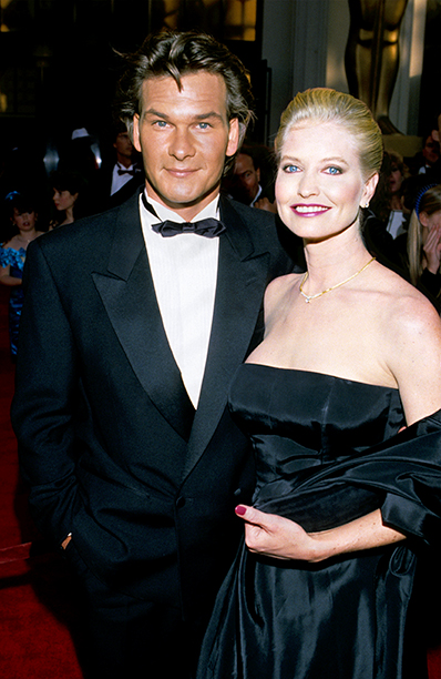 LOS ANGELES, CA - MARCH 11: Patrick Swayze and wife Lisa Niemi attend the 61st Annual Academy Awards on March 29, 1989 in Los Angeles California. (Photo by Kevin Mazur/WireImage)