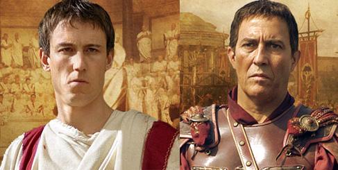 Цезарь и Брут из сериала Рим