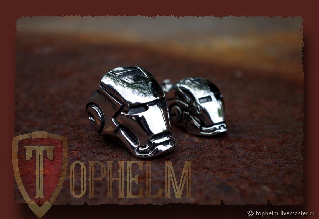 Железный человек перстень из серебра